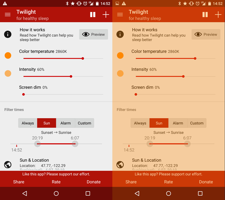 Twilight App Android