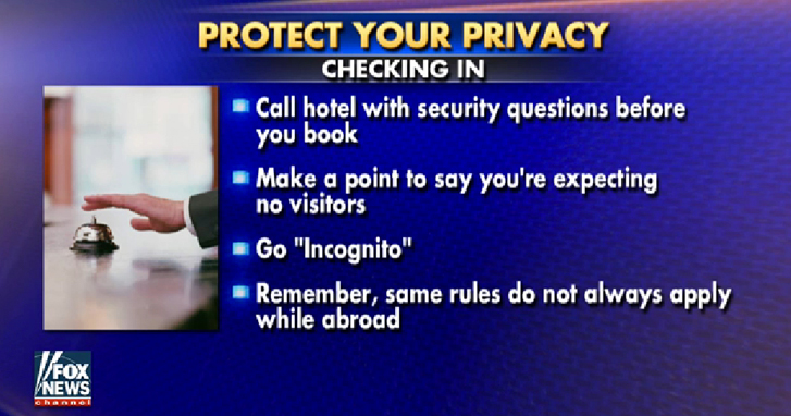 Protect Your Privacy When Checking Into Hotel